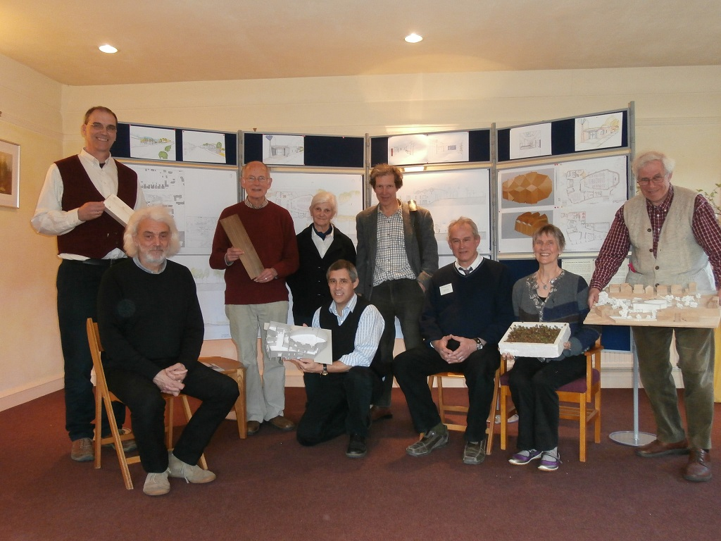 Some members of the New Development Group together with the architect at our Public Consultation in April 2013
